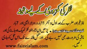 Nazar ki Kamzoori Kay Liye Wazifa in Urdu
