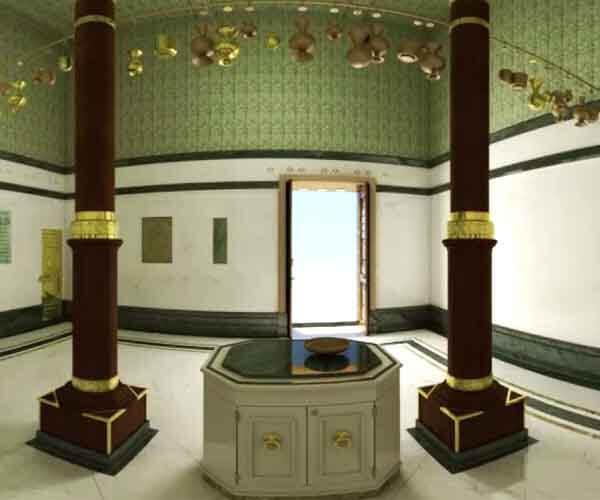 Inside the Holy Kaaba